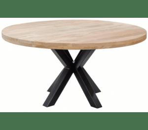 Rundt spisebord i mangotræ og metal